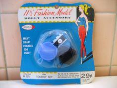 Fashion Model - Dolly Accessory - Tourist Set Camera & Bag #