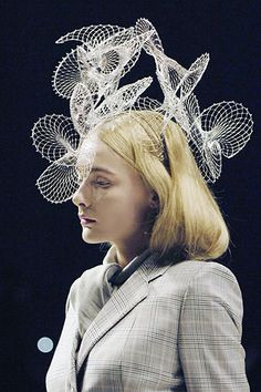 Fashion Architecture - complex structures; 3D sculptural headpiece