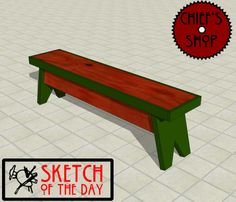 Sketch of the Day: Locker Room Bench