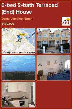 2-bed 2-bath Terraced (End) House in Denia, Alicante, Spain ►€130,000 #PropertyForSaleInSpain