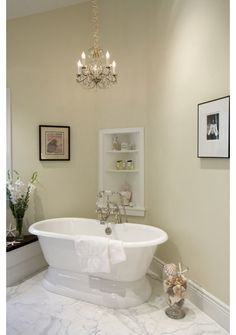 Love the buil-in corner shelves!  traditional bathroom by Mahoney Architects and Interiors