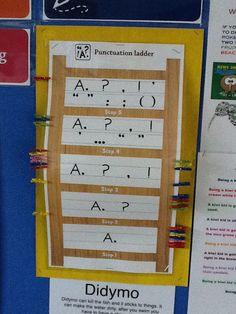 Using the punctuation ladder from The Writing Book by Sheena Cameron & Louise Dempsey