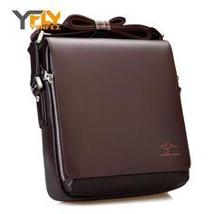 Y-FLY 2016 News Hot Sale Kangaroo Leather Men Messenger Bags Business Men Shoulder Bag