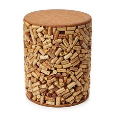 WINE CORK STOOL - Uncommongoods - Did this cork collector have friends over for all that wine? lol eb