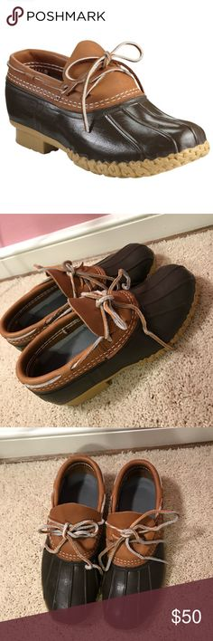 Bean Brown Tan size Winter & Rain Boots at a discounted price at Poshmark. Description: Shortened LLBean boots, barely worn in great condition. Llbean, Bean Boots, Winter Rain, Boat Shoes, Shop My, Best Deals, Brown, Womens Fashion, How To Wear