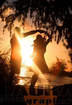 I love to swing dance at sunset!