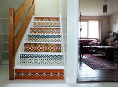 DIY Hand Painted Fair Isle Stair Renovation