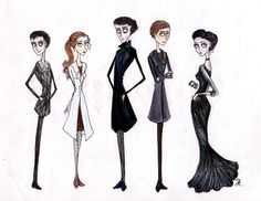 Sherlock, if Tim Burton had drawn it. :)