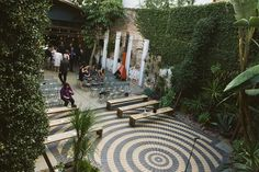 Marvimon House in Downtown LA:  Intimate courtyard wedding