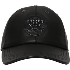 1892226a42f8 Versace Men 3d Medusa Leather Baseball Hat ( 480) ❤ liked on Polyvore  featuring men s