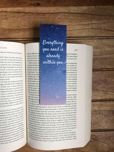 Bookworm gifts, Bookmarks for books, Paper bookmarks, Book lover gift, Everything you need is within Bookmarks Quotes, Bookmarks For Books, Creative Bookmarks, Cute Bookmarks, Paper Bookmarks, Bookmark Craft, Watercolor Bookmarks, Bookmark Ideas, Crochet Bookmarks