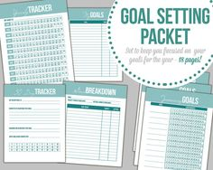 Goal Setting Printables Instant Download by SuperSweetLife