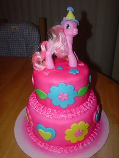 Beautiful MLP cake! I want to remember this idea.