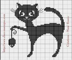 Cross Stitch Cards, Cross Stitch Animals, Cross Stitching, Blackwork Embroidery, Cross Stitch Embroidery, Cross Stitch Patterns, Hexagon Quilt Pattern, Crochet Cat Pattern, Cross Stitch Gallery