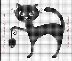 ( Grille gratuite ) Vous avez aimé le premier Chat Noir voici une autre grille…                                                                                                                                                                                 Plus