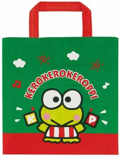 Keroppi Small Tote Bag for Lunch or Shopping Cotton Sanrio Japan*NEW* USA Seller Small Tote Bags, Japan News, Sanrio Characters, My Melody, Usa News, My Ebay, Hello Kitty, Kids Rugs, Lunch