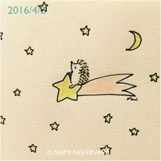 — namiharinezumi: 810 流れ星 a shooting star