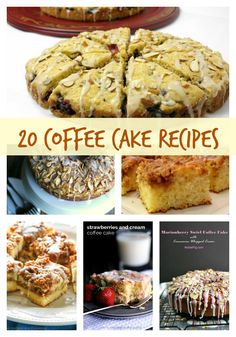 20 Coffee Cake Recipes perfect for Sunday morning or any other time you want to enjoy a morning treat. This collection has some outstanding breakfast treat ideas.