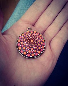 Check out this item in my Etsy shop https://www.etsy.com/listing/472251769/bronze-dotillism-art-pendant-with-pink