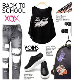 """Back to school (Yoins coupon:CM17)"" by shambala-379 ❤ liked on Polyvore featuring WithChic, GALA, Vans, StreetStyle, BackToSchool and yoins"
