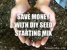 Do you garden big? Want to make $597 worth of seed starting mix for $70? Here's the giant tutorial that shows you how to save a ton of money with DIY Seed Starting Mix.