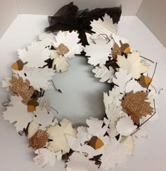 Wintery Wreath made with Autumn Accents Bigz Die by Stampin' Up!