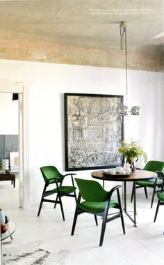 concrete ceiling blending into painted wall