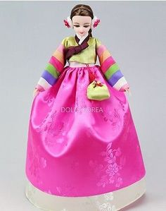 d032b93c7b Korean-Barbie-Jenny-takara-size-Traditional-Hanbok-Dress-