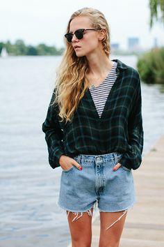 2 ways to wear our flannel shirt with Marie Von Behrens.
