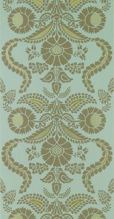Designers Guild wallpaper - Roquelaire Aqua