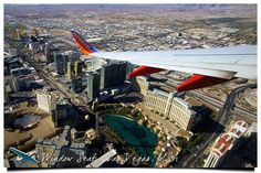 Southwest over Las Vegas Southwest Airlines, Nevada, Airplane View, Las Vegas, Times Square, Aviation, Scenery, World, Building