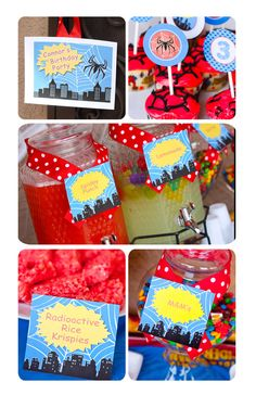 Superhero Birthday Party Supplies | ... chic - Printable Party Decor, superhero, spiderman birthday party