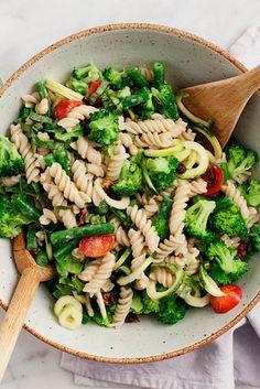 Lemon-Tahini Pasta Salad With Fresh Greens   20-Minute Healthy Dinner Ideas