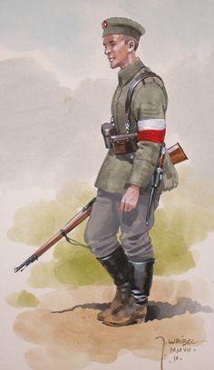 WP 1914-1920 w rysunkach J. Wróbla - zdjęcia, foto galerie, fotki, zdjęcie Military Art, Military History, Military Diorama, Military Uniforms, Poland Ww2, Ww1 Art, Ww1 History, Ww1 Soldiers, World War One