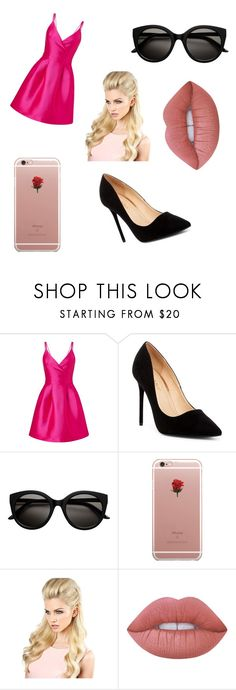 """""""Dove Cameron"""" by teddygirl2654 ❤ liked on Polyvore featuring Miss Selfridge, Liliana, ETUÍ and Lime Crime"""