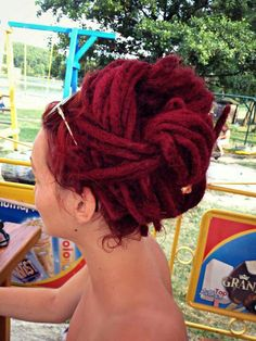 Red dreads - I want my hair this colour!