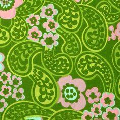 modflowers: vintage fabric designed by Raili Konttinen, 1967-69