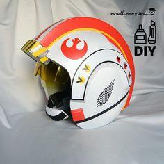 DIY Star Wars Classic X-wing helmet templates par mellowmindCosplay