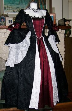 Dracula Gothic Renaissance Pirate Gown Dress by zachulascrypt