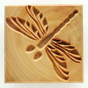 MKM Ssl WoodBlock Series Stamps4Clay Dragonfly for use with clay, polymer clay, and PMC.