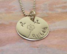 Hand Stamped Jewelry Wish Dandelion by BeeBaublesJewelry on Etsy. $20.00, via Etsy.