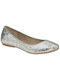 In addition to black flats, I think every girl should have a pair of silver ones too (preferably glittery!)