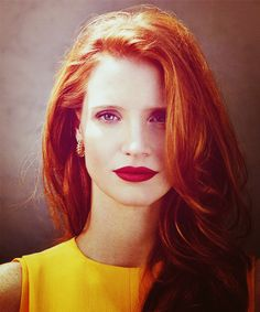 Jessica Chastain  @Cristin Harrell Buckley, your hair would look awesome like this!!