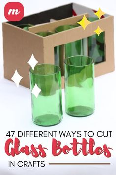 Glass cutting is actually a fairly simple process and provides you a ton of cute ideas for DIY crafts and home decor projects. However, you may need a bit of inspiration to get started and this article highlights many glass bottle cutting ideas to help you get started. It also is a great way to upcycle beer, wine, and soda pop bottles into something new and exciting. #glassbottleprojects #cuttingglasstipsandtricks #glasscrafts #DIYglass Recycle Bottles, Recycled Glass Bottles, Pop Bottles, Soda Bottle Crafts, Glass Bottle Crafts, Bottle Art, Cutting Glass Bottles, Bottle Cutting, Beer Bottle Glasses