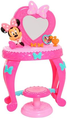 Discover the Disney's Minnie Mouse Minnie Bowdazzling Vanity. Explore items related to the Disney's Minnie Mouse Minnie Bowdazzling Vanity. Organize & share your favorite things (including wish lists) with friends. Minnie Mouse Vanity, Minnie Mouse Toys, Disney Gift, Disney Toys, Disney Stuff, Best Kids Toys, Mini Mouse, Baby Alive, Imaginative Play