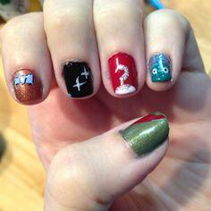 Peter Pan inspired nail art