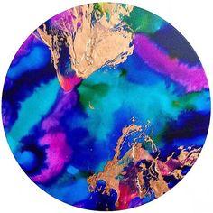 Resin art. 60cm round acrylic and resin artwork