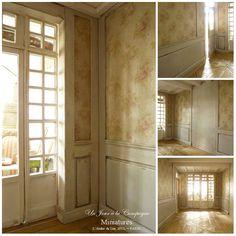 Le salon romantique - Parquet Versailles - Boiseries - Cheminée - Trumeau