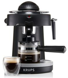 espresso at home KRUPS Steam Espresso Machine with Frothing Nozzle for Cappuccino Black KRUPS Steam Espresso Machine with Frot Best Home Espresso Machine, Espresso At Home, Espresso Machine Reviews, Espresso Coffee, Best Coffee, Italian Espresso, Cappuccino Maker, Espresso Maker, Krups Coffee Maker