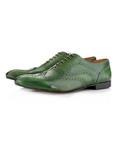 Topman Smart Shoes / Frank Brogues (Green) http://tpmn.co/VR6MUW